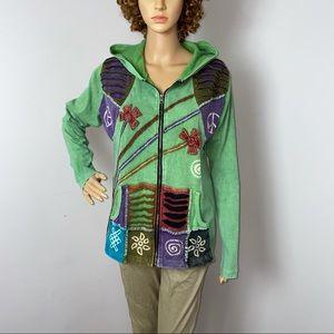 Rising International Hooded Zip Up Sweatshirt XXL